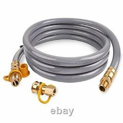 15 Foot 3/4inch ID Natural Gas Hose Quick Connect/Disconnect Fittings For More