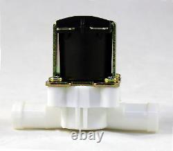 1/2 inch Barbed Hose 110V-120V AC Plastic Nylon Solenoid Valve ONE-YEAR WARRANTY