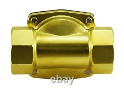 2 Inch Brass Electric Zero Differential Air Gas Water Process Valve 12V DC