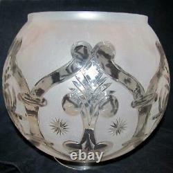 6 inch fitter SOLAR LAMP SHADE, for old oil, gas lamp astral / Feather Design