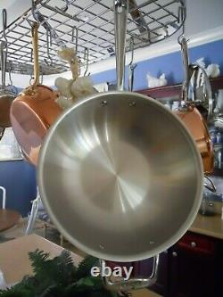 All-Clad 12 inch Copper Core Stainless Wok Double Handle