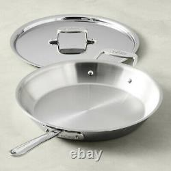 All-Clad D5 Polished 5-Ply 12.5 inch Fry Pan with Lid