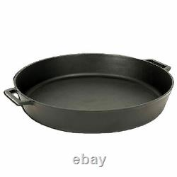 Bayou Seasoned Large 20 Inch Even Heat Cast Iron Cooking Cookware Skillet Pan