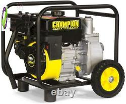 Champion 66520 2-Inch Gas-Powered Semi-Trash Water Transfer Pump With Hose And W