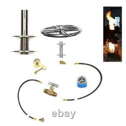 Convert Wood Burning Chiminea to Nat Gas with Your Choice of Lifetime Warr Burner