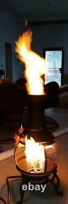 Convert Wood Burning Chiminea to Propane with Choice of Lifetime Warranted Burner