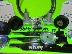 Deck Kit Blade Spindle Belt Idler for Husqvarna Z254 RZ5422 RZ5424 54 Inch
