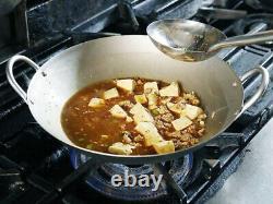EBM(EBEMATSU) pure titanium ultra light Chinese hands pot wok 13 inch from Japan