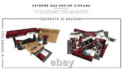 Extreme sets GAS STATION POP-UP DIORAMA S5 or 6 to 7 inch figures NEW