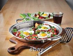 Hammer Stahl American Clad 7-Ply 13.5-inch Paella Pan/Griddle Stainless Steel