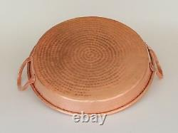 Handmade Pure Copper Pan Pot Frying Pan Thick Plate Purple Double Handle