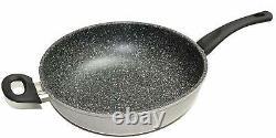 Joycook Marble Coated Heavy Gauge Aluminum Nonstick Wok pan, 12-inch / 30CM