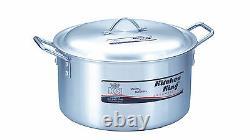 Large Aluminium Casserole Dish Cooking Saucepan Stockpot Size 10inch Capacity 7