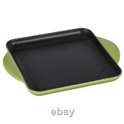 Le Creuset Palm Green -Square 9.5 inch Griddle