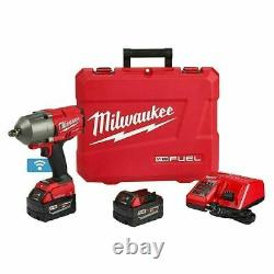 Milwaukee 2863-22 M18 FUEL ONE-KEY 1/2 Impact Wrench Kit with2 Batteries