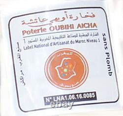 Moroccan Cooking Tagine Pot Tajine Lead Free Terra Cotta Unglazed Large 12 inche