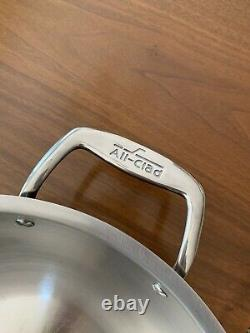 NEW All-Clad 12 inch Copper Core Frying Pan Skillet Stainless Wok Double Handle