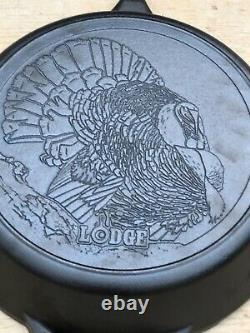 New Lodge Wildlife Series #12 Cast Iron TURKEY Advertising Skillet 13 ½ Inch