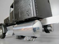 Pair 5 inch Fuel Gas Oil Tank +4x Mount Bracket Tamiya 1/14 RC King Grand Hauler
