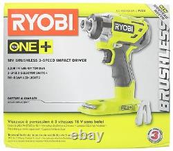 Ryobi P238 18V 18-Volt ONE+ 1/4 in. 3-speed Brushless Impact Driver (Tool Only)