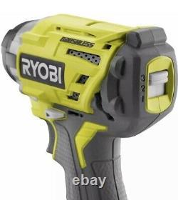 Ryobi P238 One+ 18V Brushless 3-Speed 1/4 in. Hex Impact Driver SEALED BOX