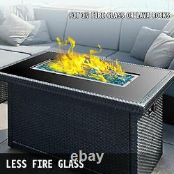 VEVOR Drop-In Fire Pit Pan with Burner, 49 by 16-inch Linear Trough Fire Bowl