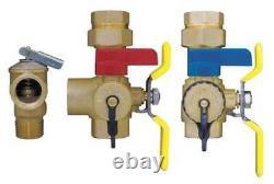 Webstone 44443WPR Water Heater Valve Kit 3/4 IPS Isolator E-X-P E2 (Tankless)