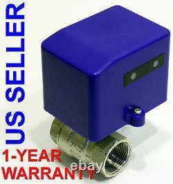 3/4 Pouce Valve À Billes Motorisées 12 VDC Low Power High Flow Motor Driven Gas Water