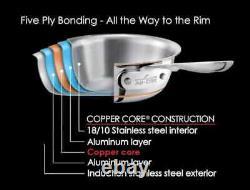 All-clad 6112 S Copper Core 5-ply Bonded 12 Pouces Fry Pan Nouvelle Marque