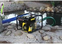 Champion 66520 Pompe De Transfert D'eau Semi-réservoir À Gaz De 2 Pouces Avec Tuyau Et W