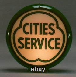 Cities Service Gas Pump Globe 13,5 Pouces Cabine Maison Den Garage Boutique Farm Decor