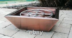 Copper Cladded Outdoor Fire Pit Bowl Firepit Backyard Colonne Gaz Naturel Propane