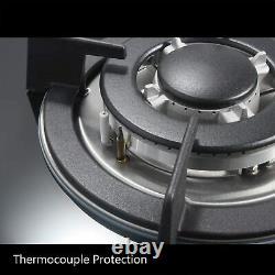 Cuisinière À Gaz 30 Pouces Verre Trempé Construit Dans La Poêle À Gaz 5 Brûleurs Gpl Ng Dual
