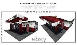 Ensembles Extrêmes Gas Station Pop-up Diorama S5 Ou 6 À 7 Pouces Chiffres Nouveau