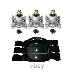 Husqvarna 48 Pouces Deck Spindle Blade Belt Kit 4218 4818 4822 4824 Lt 2119 2122