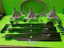 Husqvarna 48 Pouces Deck Spindle Blade Belt Kit 4818 4822 4824 Tour Zéro Tondeuses