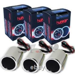 Jdm Sport 2 Pouces 2 1/16 52mm Gague Huile Température + Gaz D'échappement Température + RPM Tach