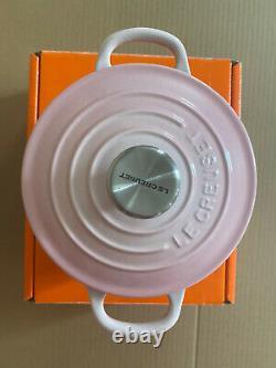 Le Creuset Shell En Fonte Rose Baby Cocotte 5,5pouces (14 Cm/1qt) Rare