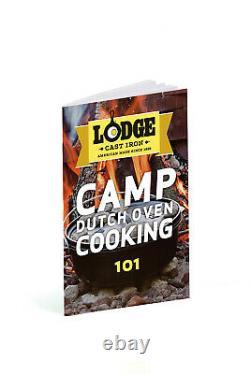 Lodge 12 Pouces / 8 Quart Cast Iron Deep Camp Four Néerlandais