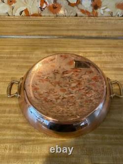 Mauvel Fabriqué En France M'héritage Cuivre 13.7-inch Paella Pan Avec Manche En Bronze