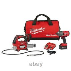 Milwaukee 2767-22gg M18 Fuel 18v 1/2 Friction Ring Impact Wrench With Grease Gun