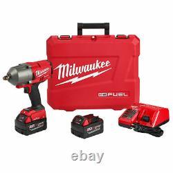 Milwaukee 2863-22 M18 Fuel One Key High Torque 1/2 Drive Impact Wrench Kit