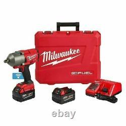 Milwaukee 2863-22 M18 Fuel One-key 1/2 Kit De Clé D'impact Avec 2 Piles