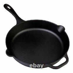 Moulage Fer 12 Pouces Poêle Fry Cuisson Pan Assaisonné Grandes Vaisselle Ustensiles De Cuisine