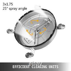 Nettoyeur De Surface Plat 21 Pouces 4000 Psi Laveuse Pression Acier Inoxydable 3 Buses