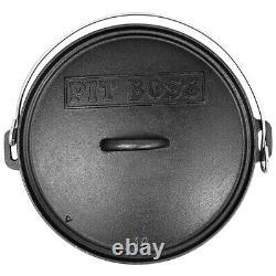 Pit Boss Oven Dutch 14 Pouces Fonte De Fer Pré-assaisonné Non Bâton 68011