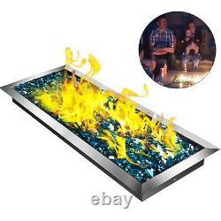 Poêle D'incendie Avec Burner H 24 X 8 Table-top Rectangulaire 24 Par 8 Pouces