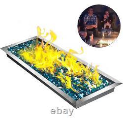 Poêle D'incendie Vevor Avec Brûleur, 49 Po Sur 16 Po, Coupe-feu Linéaire