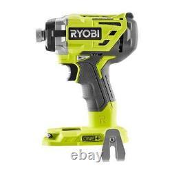 Ryobi P238 18v 18-volt One+ 1/4 Po. Pilote D'impact Sans Brushless À 3 Vitesses, Nouveau En Boîte