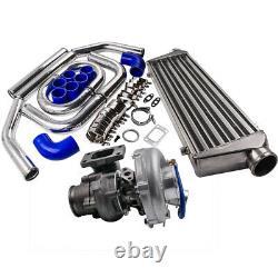 T04e T3 T4 Turbo Charger + 27 X 7 X 2,5 2,5 Intercooler 64mm Turbo Pipe Kit